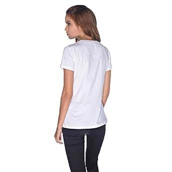Creo Green Beard Skull T-Shirt For Women - S, White