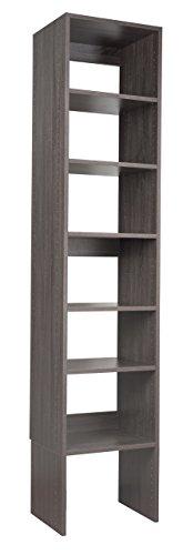 "Modular Closets Plywood Shelf Tower Closet Organizer System (30"" Wide, Driftwood)"