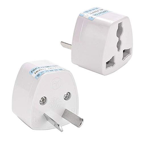 2 Quality Universal EU US UK to AU AC Car Travel Power Plug Converter Travel Adaptors AU Plug 250V 10A : France