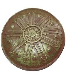 [Antiqued Plastic Roman Shield for Gladiator or Knight Costume] (Ancient Roman Soldier Costume)