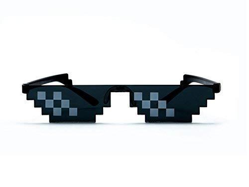 7331da260e Image Unavailable. Image not available for. Colour  Springo Men Women  Goggles Plastic Glasses Thug Life 8-Bit Mlg ...