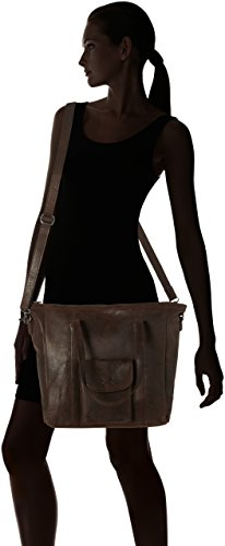 Sansibar Shopper Bag - Borse a secchiello Donna, Braun (Dark Brown), 10x34x35 cm (B x H T)