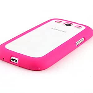 Transparent TPU soft Case for Samsung Galaxy S3 I9300(Assorted Colors) --- COLOR:Rose