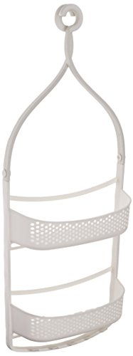 AmazonBasics Shower Caddy with Adjustable Arms - White