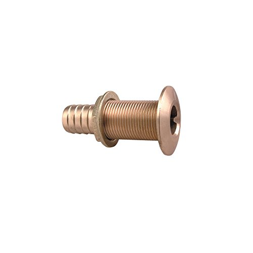Perko 0350005DPP Plain Bronze Thru-Hull Connection for Use with Hose 3/4