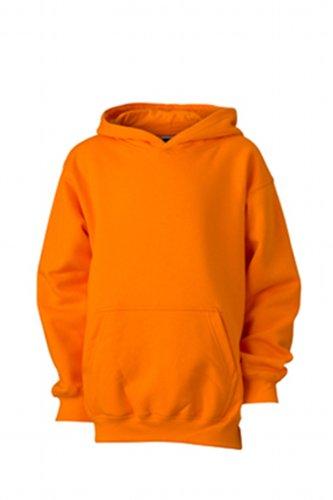 James & Nicholson Jungen Sweatshirt Hooded Sweat Junior, Gr. X-Large (Herstellergröße: XL (146/152)), Orange
