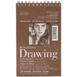 Bulk Buy: Strathmore (3-Pack) Medium Drawing Spiral Paper Pad 4in. x 6in. 24 Sheets 62400100