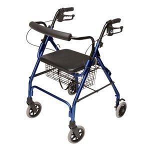 Lumex Walkabout Lite Four-Wheel Rollator, Blue, 6