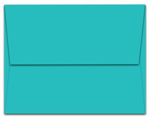 """250 Aqua Blue Ocean A6 Envelopes - 6.5"""" x 4.75"""" - Square Flap"""