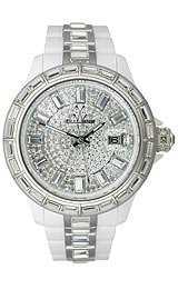 Toy Watch Gem White & Silver Unisex watch #GE01WH