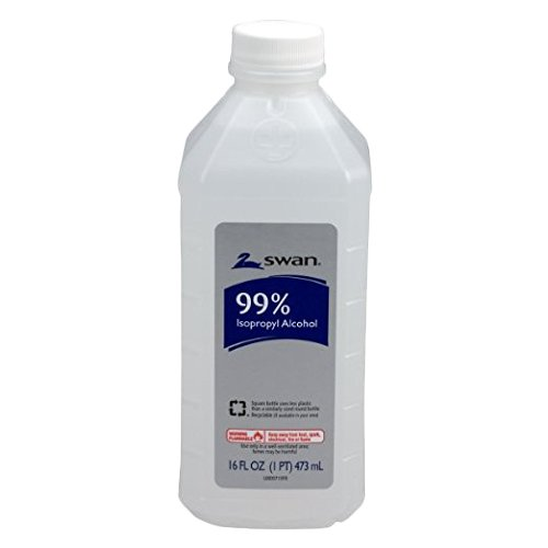 Swan 0100003 99% Isopropyl Alcohol Antiseptic Solution, 16 oz. (Pack of 12) by Swan
