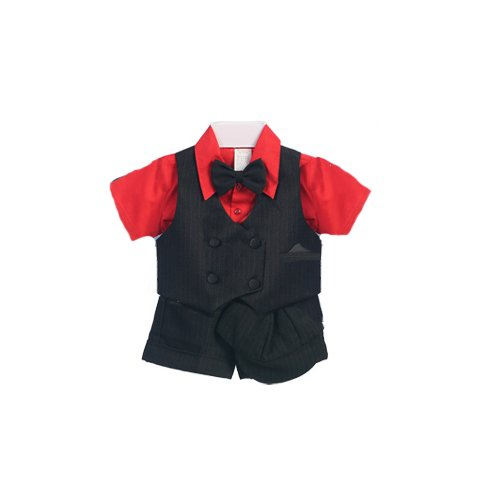 Boys Christmas Suit Outfit - 5 Pc Set (6M 9M 12M 18M 24M)