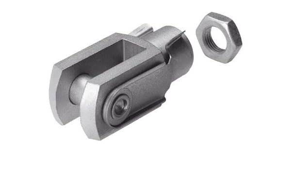 """CYLINDER ROD CLEVIS 1 1//4/""""-12 THREADS COMPLETE WITH CLEVIS PIN AND HARDWARE"""