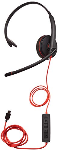 (Plantronics 209748-22 Black Wire 3200 Series Corded UC headsets)