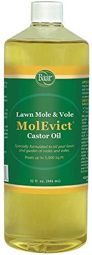 - Baar Lawn Mole Castor Oil, MolEvict, Helps Rid Lawns & Gardens of Pesky Moles & Voles - 32 Ounces
