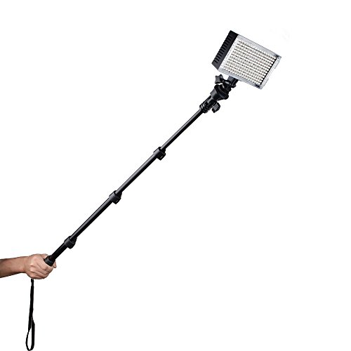 Pergear Dimmable Bi Color Handheld Extendable
