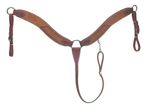 D.A. Brand Medium Honey Basket Stamped Breast Collar Horse Tack Equine