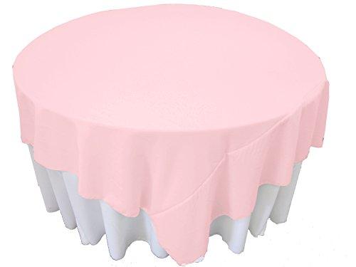 LA Linen Polyester Poplin Square Tablecloth, 90 by 90