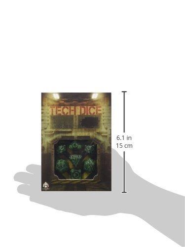 "Q Workshop QWOTEC15 Tech Dice Green/Black 7"" Card Game 5"