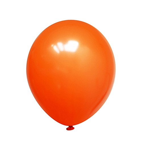 Neo LOONS 12 Pearl Orange Premium Latex Balloons -- Great for Kids , Adult Birthdays, Weddings , Receptions, Baby Showers, Water Fights, or Any Celebration, Pack of 100