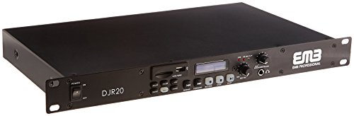 EMB Professional DJR20 1U SINGLE USB/SD Digital Player & Recorder Rack (Gemini Digital Cd Player)