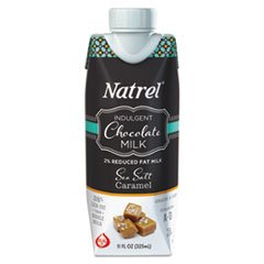 Natrel Indulgent Milk Coffee Drinks, Sea Salt Caramel, 11oz Prisma Bottle,12/Cartn