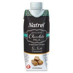 Natrel Indulgent Milk Coffee Drinks, Sea Salt Caramel, 11oz Prisma Bottle,12/Cartn
