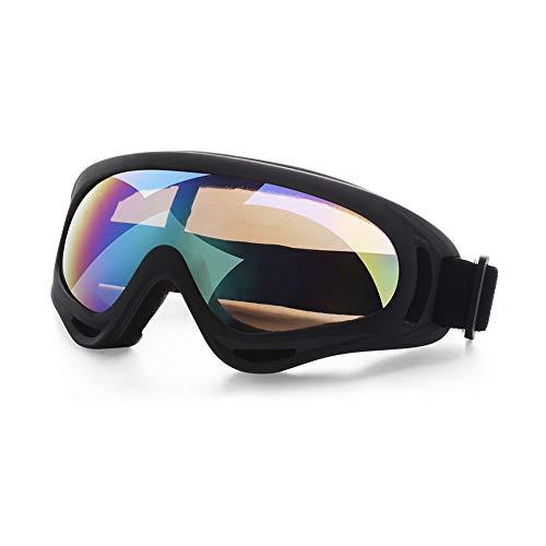 Huahua Gafas De Esquí,Uv400 Gafas De ProteccióN UV Resistentes Al Viento Compatible con Casco,Ajustable Gafas De Esquí para Deportes Invierno