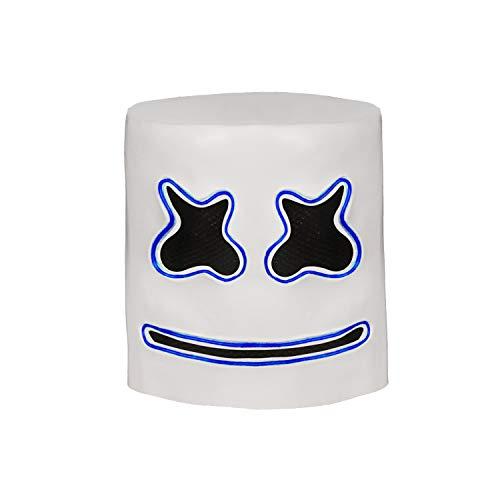 Marshmello Helmet for Halloween Mask Prop Full Head Mask Latex -