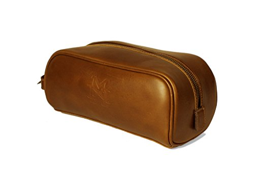 Maximon Handsome Genuine Leather Dopp Kit    Luxury Lifestyle Travel  Accessories for Men    Unique Valentine Day Gifts For Husband (Tan 3b3a8fafd8a7e