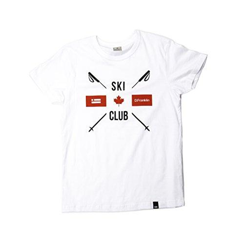 D. Franklin T-Shirt Ski Club Blanco, Camiseta para Hombre White