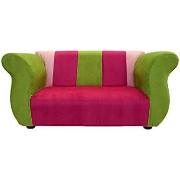 KEET Fancy Kidu0027s Sofa, Pink/Green