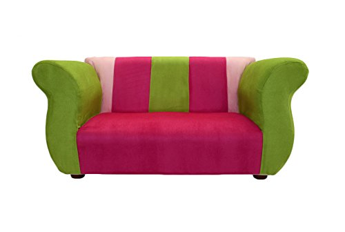 KEET Fancy Kid's Sofa, Pink/Green by Keet