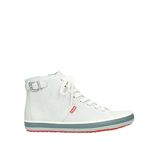 Trainers Offwhite Womens Leather Biker Wolky 1225 312 Px0Yn