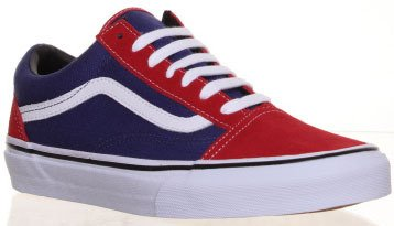 vans old skool blue red