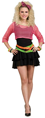 Forum Novelties Womens 80'S Groupie Pop Star Jem Punk Rock Retro Neon Costume, One Size (Pop Star Costumes Plus Size)