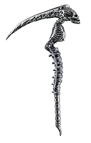 [Disguise Men's Sin Scythe Costume Accessory, Silver, Adult] (Silver Costumes Accessory)