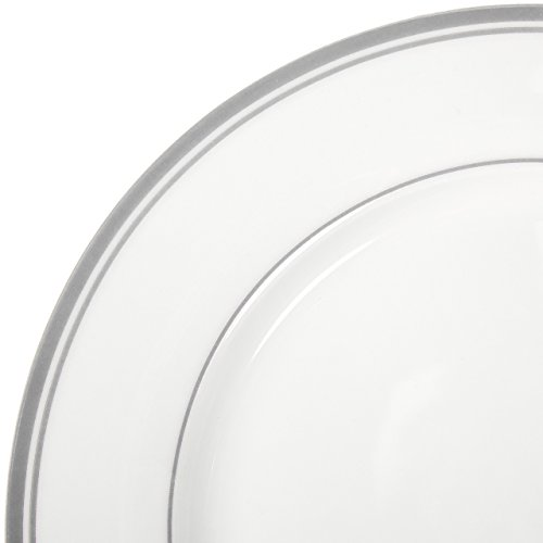 AmazonBasics 16-Piece Cafe Stripe Dinnerware Set, Service for 4 - Grey by AmazonBasics (Image #6)