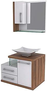 Gabinete para Banheiro C/cuba L38 e Espelheira Legno 650
