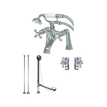 Clawfoot Tub Faucet With Hand Shower W/drain U0026 Supplies