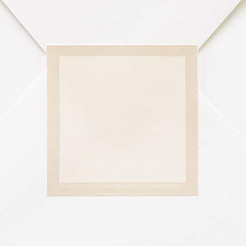 250pk Ecru Pearl Border Seal-Envelope Seals
