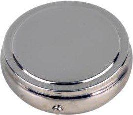 Taschenascher chrom rund