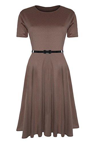 Buy belted cap sleeve dress - 9