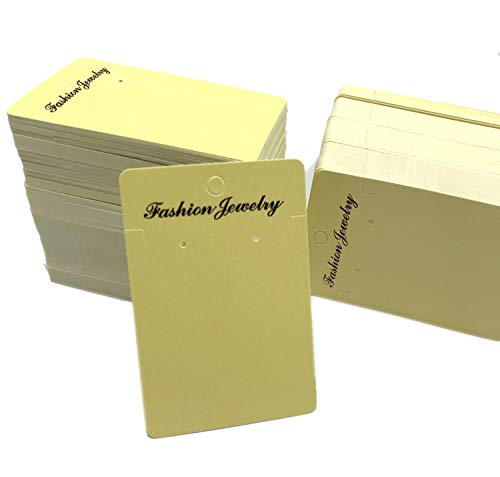 1000 pcs Yellow Earring Cards,Earring Display Cards for Ear Studs, Earrings 3.55 x 2.35 Inches ()