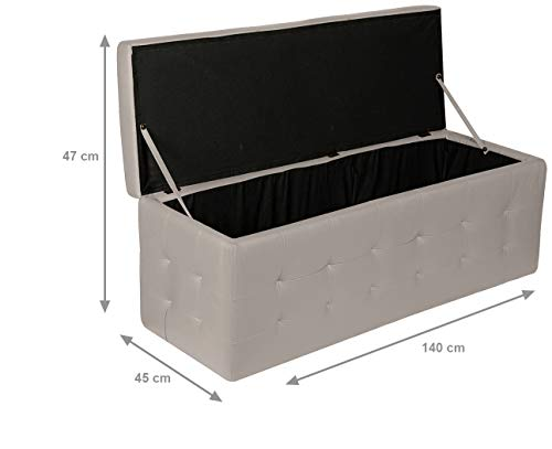 Panca Imbottita Contenitore : Esidra cassapanca ecopelle pouf contenitore moderno panca
