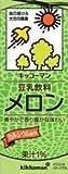 Kikkoman (Kibun) soy milk melon 200ml 36 pcs set at room temperature can be stored