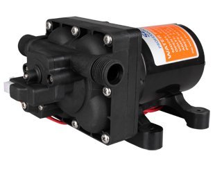 Seaflo 12V 3.0 GPM 55 PSI Quick Connect Water Pressure Diaphragm Pump with Internal Bypass Valve to reduce cycling by Seaflo