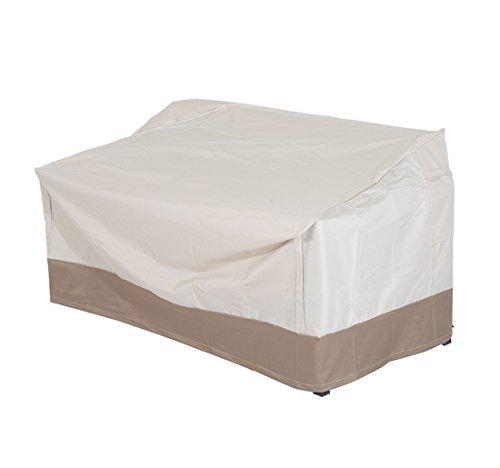 homcom –Telo di Copertura per Mobili in Tessuto Oxford 152 × 87 × 59/79cm Crema e Marrone