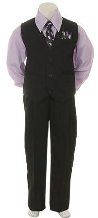 Elegante vestido de traje traje pantalón, chaleco y corbata set ...