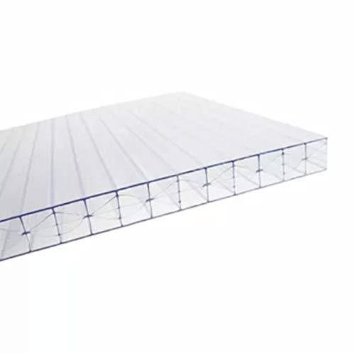 Lastra Policarbonato Alveolare 2100x1000 mm Spessore 16 mm 5X Pareti Trasparente